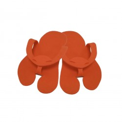 Pedicure Slippers - Felt - PREMIUM orange - (10pairs)