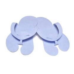 Klapki japonki z filcu Niebieskie- (10par)