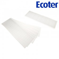 ECOTER Thermal strips made of foam for hair coloring 40x10 (100 pcs)