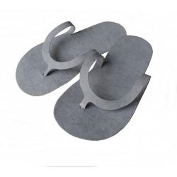 Felt Slippers - (10 pairs)