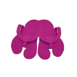 Pedicure Slippers - Felt - PREMIUM purple - (10 pairs)