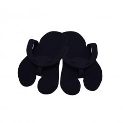 Klapki japonki z filcu PREMIUM Czarne - (10par)