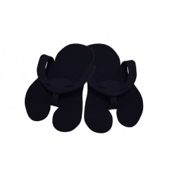 Pedicure Slippers - Felt - PREMIUM black - (10pairs)