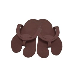 Pedicure Slippers - Felt - PREMIUM brown - (10pairs)