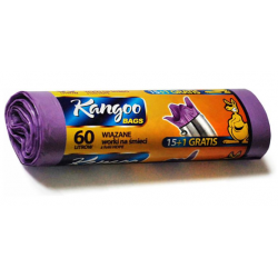Garbage bag - 60L tied lavender (16 pcs.)