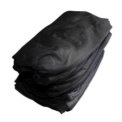Nonwoven sheet with elastic band black 220x100 - (10 pieces)