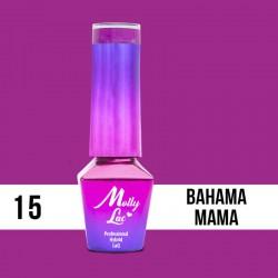 MollyLac Hybrid nail polish - C&D Bahama Mama 10ml Nr15