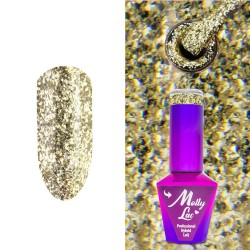 LAKIER HYBRYDOWY MOLLY LAC - QUEENS OF LIFE - PERFECT GOLD 10ml Nr 32