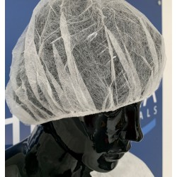 Pleated disposable nonwoven cap BONNET - (100 pc.)
