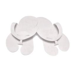 Klapki japonki z filcu PREMIUM Białe - (10par)