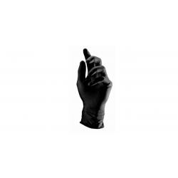 Rękawiczki nitrylowe czarne S - (100 szt)