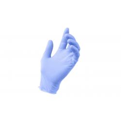 Rękawiczki nitrylowe chabrowe L  - (100szt)