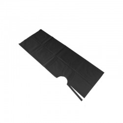 Long black nonwoven hairdressing cape (25 pc.)