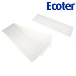 ECOTER Paski termiczne z pianki do koloryzacji włosów 38x12 (100 szt)