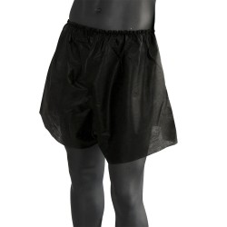 Short black disposable male boxers - (1 pc.)