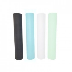 Disposable foiled cellulose cosmetic bed sheet  Black on roll -...