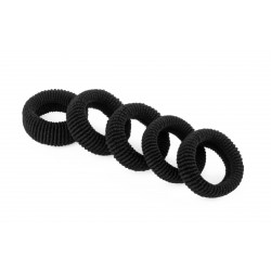 Worm-like Black hair tie (50 pc.)