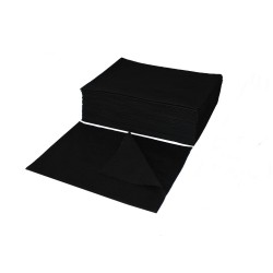Hairdresser perforated towel BLACK  70x50 - (100 pieces)