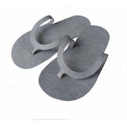Grey tomentum pedicure slippers (10 pairs)