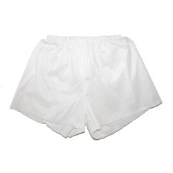 White disposable male boxer shorts - (1 pc.)