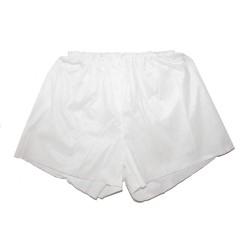 White disposable male boxer shorts - (25 pc.)