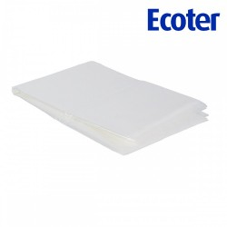 ECOTER Hairdressing cape - PE - transparent (40 pcs)