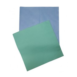 Rectangular disposable mats blue / green - (100 pieces)